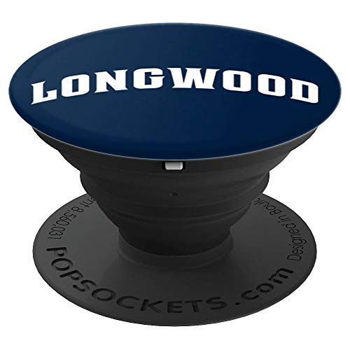 (Longwood University Collapsible Grip & Stand PPLWU06 - PopSockets Grip and Stand for Phones and Tablets )