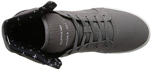 Supra SKYTOP - zapatillas deportivas altas de lona hombre gris - Grau (GREY/PRINT - WHITE     GPR)