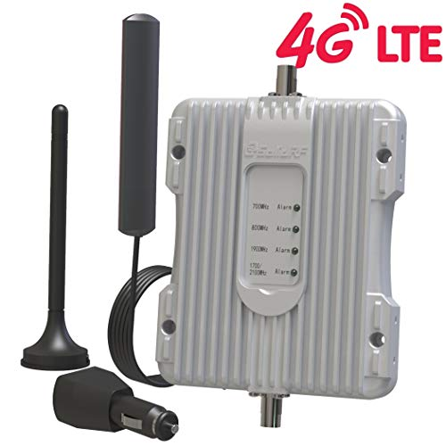 SolidRF-Car-Cell Phone-Signal-Booster 4G LTE 5Bands Extender Signal Range 32x for Truck Vehicle All Carriers ¡­