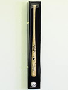 1 Baseball Bat Display Case Rack Cabinet Holder w/ 98% UV Protection Lockable Veritical & Horizontal mounting