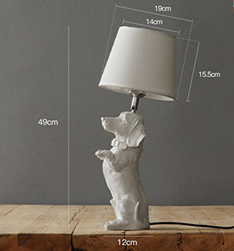 DGS Resin Table Lamp Nordic Retro Bedroom Bedside Lamp Creative Study House Decoration Light Children'S Room Puppy Lamp , (Carmen 6 Light)
