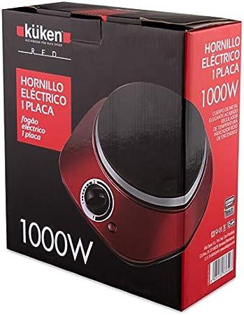 Alfa 21748 - Hornillo electrico 1000w kuken red: Amazon.es ...