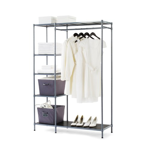 Freestanding Storage Closet with 5 Shelves