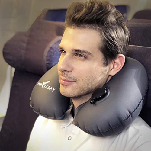 SFE Inflatable Soft Car Travel Head Neck Rest Air Cushion U Pillow Sleep Cushion by SFE-Pillow (Image #1)
