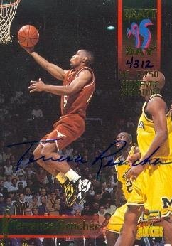 Terrance Rencher autographed Basketball Card (Texas) 1995 Signature Rookies #19 Rookie - Autographed College Cards ()