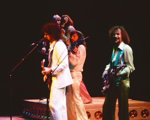 (Electric Light Orchestra 8x10 Promotional Photograph Poster Jeff Lynne in Concert 1970's)