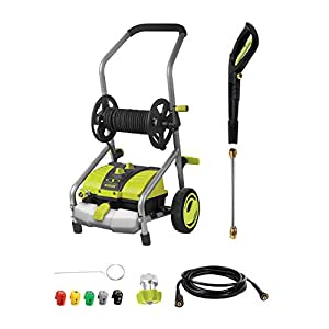 Sun Joe SPX4001 2030 PSI 1.76 GPM 14.5 Amp Electric Pressure Washer with Pressure Select Technology & Hose Reel
