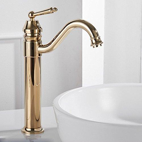 Gyps Faucet Basin Mixer Tap Waterfall Faucet Antique Bathroom Mixer Bar Mixer Shower Set Tap Cold water faucet gold-silver-copper kitchen sitting in the bathroom hot and cold mixer faucet Gold