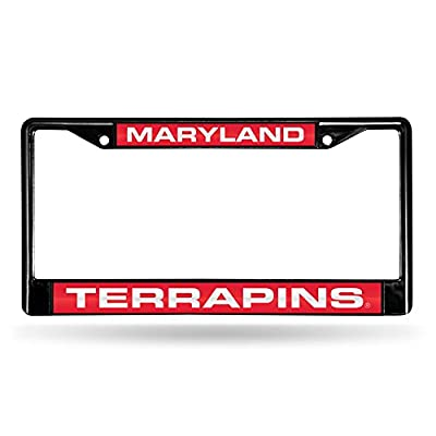 NCAA Rico Industries Laser Cut Inlaid Standard Chrome License Plate Frame, Maryland Terrapins : Sports & Outdoors