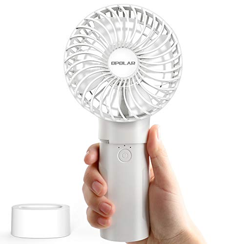 OPOLAR Battery Operated Handheld Fan with 5200 mAh Power Bank, Personal Fan with 5-18 Hours Running Time,3 Setting, Strong Wind, Quick Charge, for Travel, Camping and Outdoor Activities ()