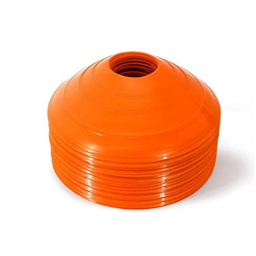 Soccer Disc Cones Mini Agility Cones Orange,Field Markers Football Training Drill Equipment 20pc Set for Cone Drills,Sports & Kids (Soccer Field Equipment)