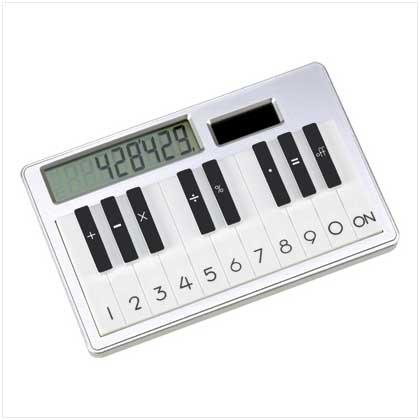 - Solar Piano Key Look Calculator Desk Accessory Gift