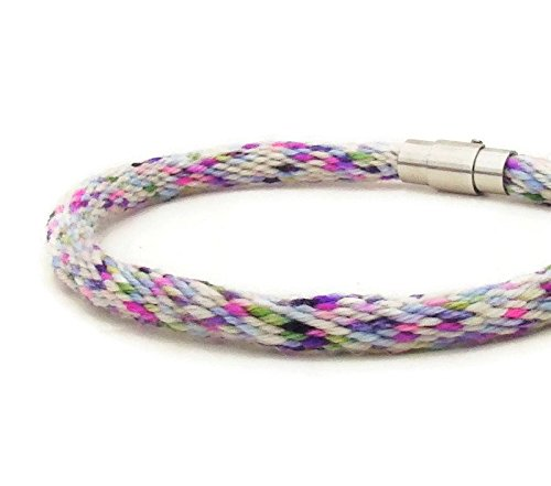 Amazon com: Woven 28 strand, white and purple specialty yarn
