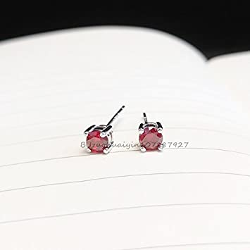 e46905c3e9d1 Amazon.com  Jacinth 925 sterling silver stud earrings diamond four ...