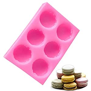 UPKOCH Macaron Mold 1 pc Silicone 6-Cavity DIY Bakeware Fondant Mould Cake Decoration Tools for Cookie Cupcake Chocolate
