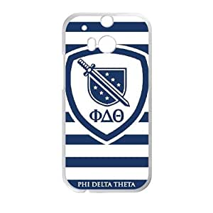 Phi Delta Theta Stripes HTC One M8 Cell Phone Case White phone component RT_168593