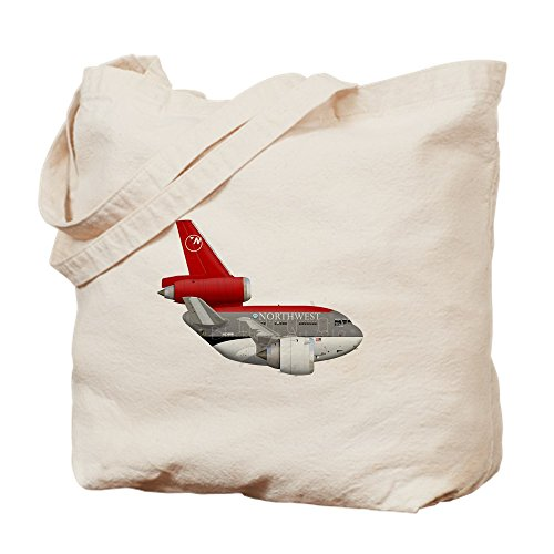 Cafepress   Northwest Airlines   Natural Canvas Tote Bag  Cloth Shopping Bag