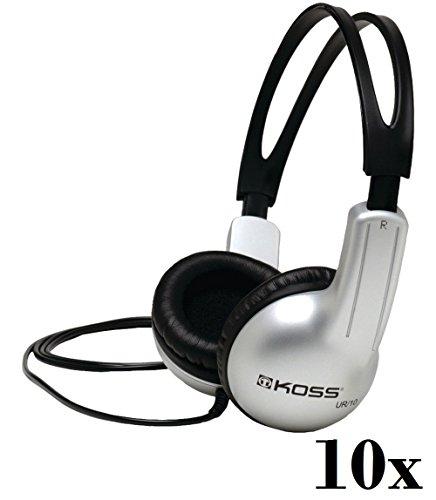 Lot Of 10 Koss UR-10 Closed-ear Design Stereo Headphones (Stratus Koss Headphones)