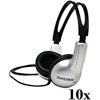 Lot Of 10 Koss UR-10 Closed-ear Design Stereo Headphones