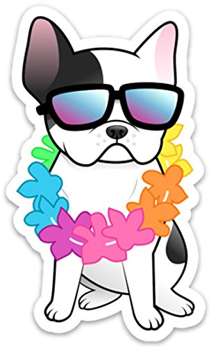 Bulldogs Bottle (French Bulldog Sticker Decal Hawaiian 4