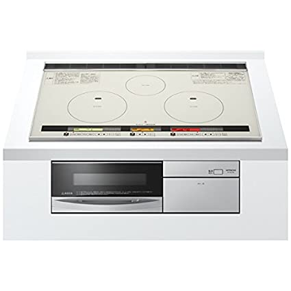 [Single-phase 200V] HITACHI (Hitachi) 3-neck IH width 75cm built-in IH cooking heater HT-K8STWF-S (Silver)