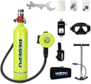 1L Mini Scuba Tank Kit Oxygen Tank Scuba Gear Breathing Underwater Diving Tanks and with 20-25 Minutes (340 Br