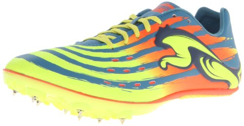 PUMA Men's TFX Sprint V4 Track and Field Shoe,Metallic Blue/Fluorescent Yellow/Fluorescent Peach,13 M US