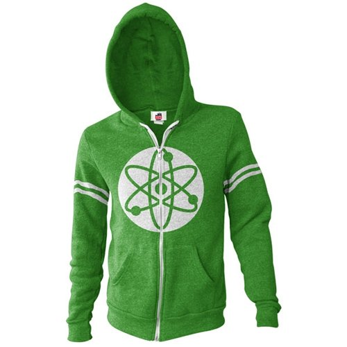 Big Bang Theory Men's Atom Hoodie (Green, Medium)
