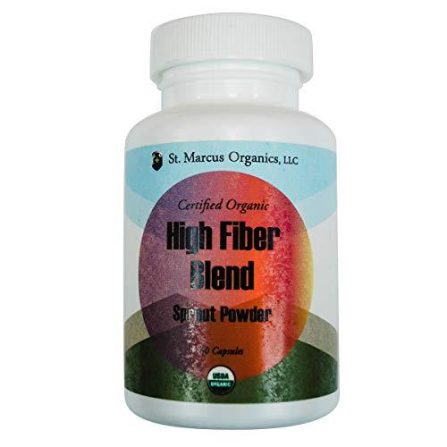 Certified Organic High Fiber-Blend Sprout Powder (60 Capsules)