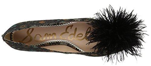 Ballet Multi Sam Floral Women's Black Brocade Reina Flat Edelman Yqv7qtB