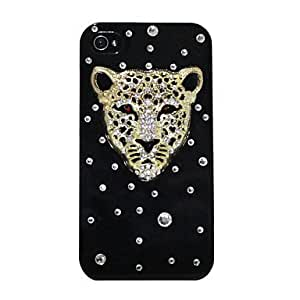 Zircon Leopard Pattern Hard Case for iPhone 4/4S (Assorted Colors) - COLOR#1