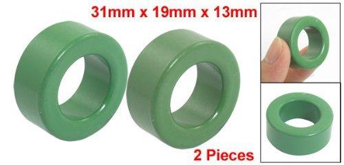 2 partes de ferro verde toróide de ferrite 1, 2 x 0, 7 x 0, 5: Amazon.com: Industrial & Scientific