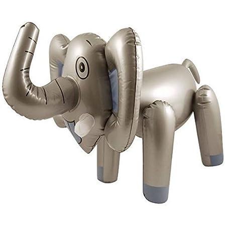 Henbrandt 65CM INFLATABLE BLOW UP ELEPHANT ANIMAL TOY SAFARI NOVELTY