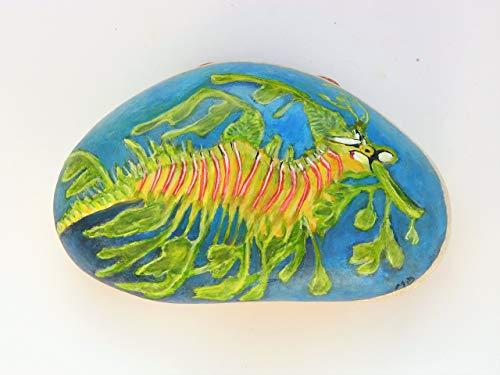(Dragon Seahorse Handpainted on a Spanish Beach Rock )
