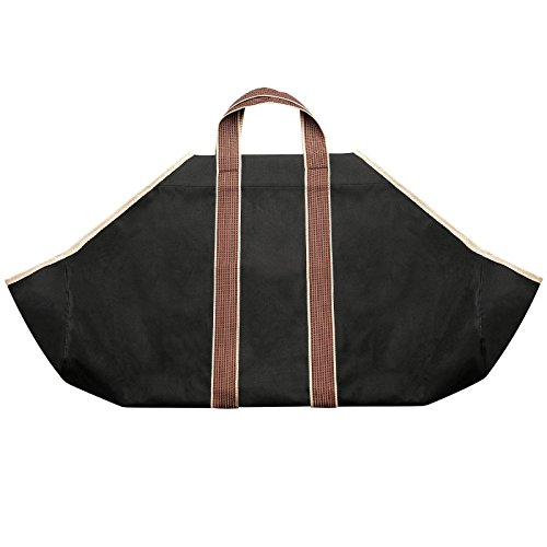 "Firewood Canvas Caddy 36.5"" X 18"" Log Tote Bag Carrier Ho..."
