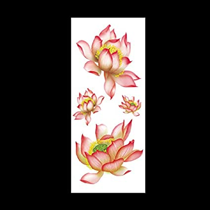 lihaohao Etiqueta Engomada del Tatuaje De La Mariposa De La Flor ...