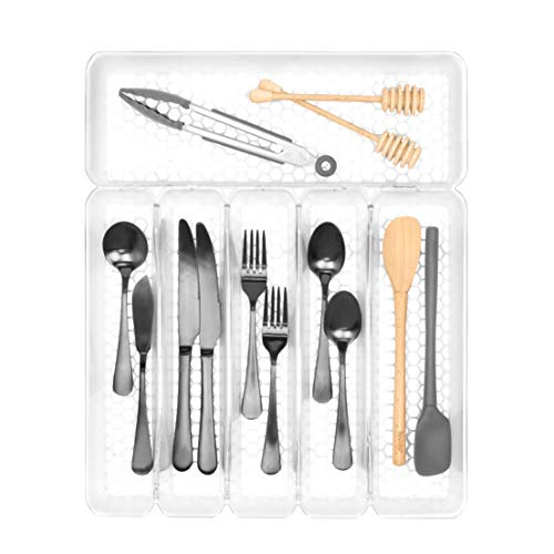 Spectrum Diversified Hexa 6-Divider Buildup-Resistant Organizer & Utensil Holder, Easy-to-Clean Modern Kitchen Storage…