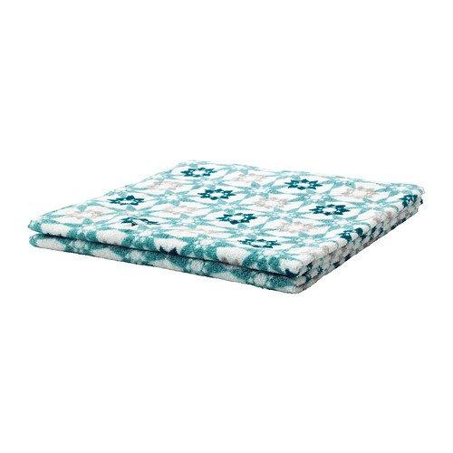 IKEA INGEBORG - Toalla de baño, blanco, turquesa - 70x140 cm: Amazon.es: Hogar