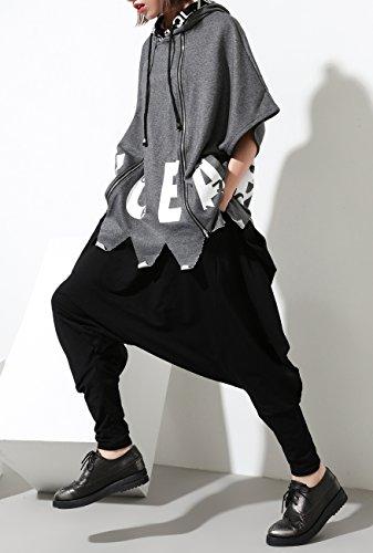 Ellazhu Harem Hippie Femmes Gy1054 Pantalon Poches hop Hip Design Noir Unique XUqXRrZx