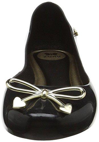 Zaxy Romantic Bow Black Womens Ballerinas Flats Shoes-3 sMPhE