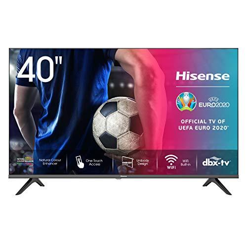 Hisense 40AE5500F 100cm (40 inch) televisie (Full HD, Triple Tuner DVB-C/S/S2/T/T2, Smart-TV, Frameless) [modeljaar 2020…