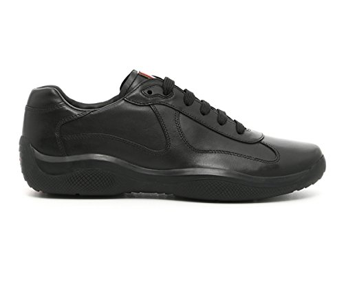 Trainer Men's Cup' Leather Calf Prada 4E2043 Black 'America's Sneaker v6OwpRxqn