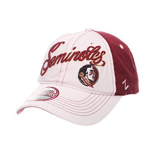 Zephyr NCAA Florida State Seminoles Adult Women Vogue Women's Relaxed Hat, Adjustable, White/Team (Florida State Colors)