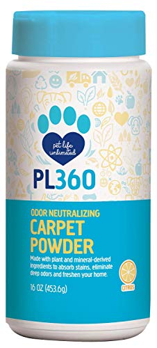 Powder Odor Remover - PL360 Pet Odor Neutralizing Carpet Powder, Citrus, 16 oz