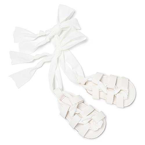 Isbasic Baby Boys Girls Summer Lace Up Shoes Roman Sandals (6-12 months, white1) (Shoes Roman Sandals)