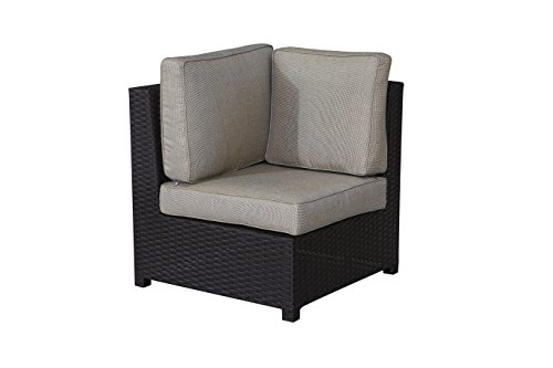 Price comparison product image Teva Patio Furniture 104COR Viro Wicker Corner of Sectional with Sunbrella Cushion MauiCollection