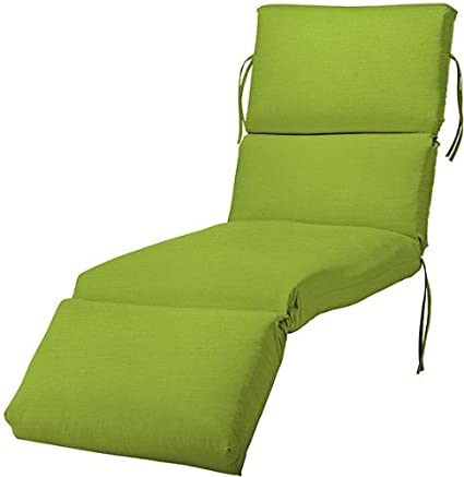 Bullnose Chaise Outdoor Cushion 4 Hx23 Wx80 L Macaw Sunbrella