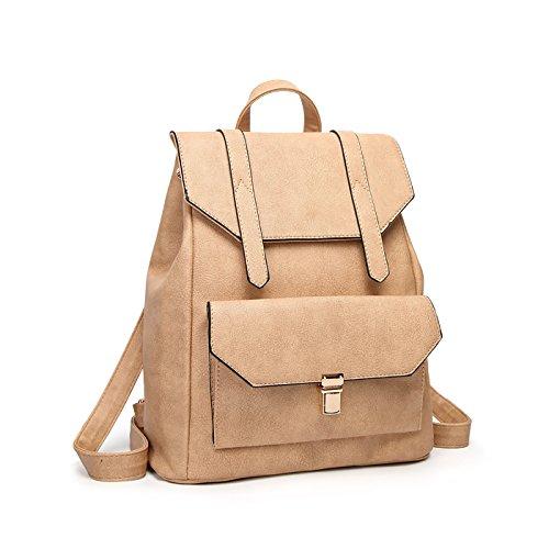 Tisdaini Mujer Mochilas Moda viaje mochila casual bolso bandolera escolar Dama bolsa Caqui