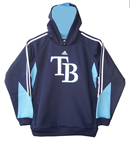 - Tampa Bay Rays Youth Size Large (14/16) Performance Hoodie Hooded Sweatshirt - Navy Blue
