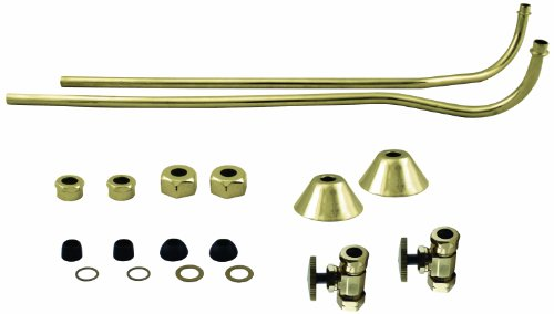 Finish Supply Bath Offset - Westbrass D136-110-01 Brass Double Offset Bath Supply Lines with 1/2
